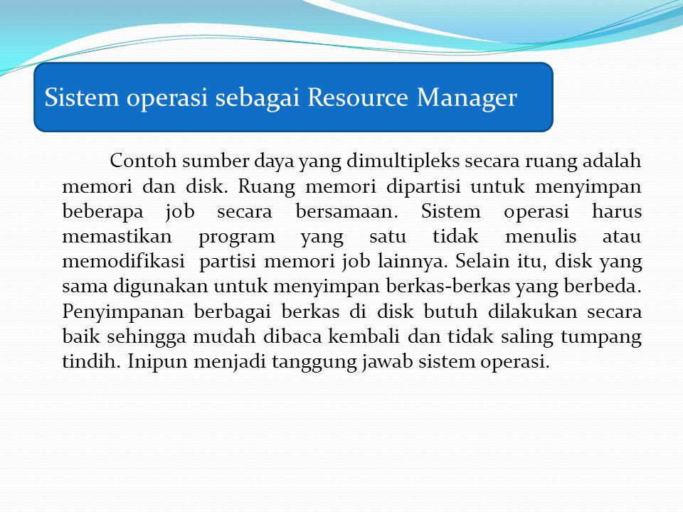 Sistem operasi sebagai Resource Manager