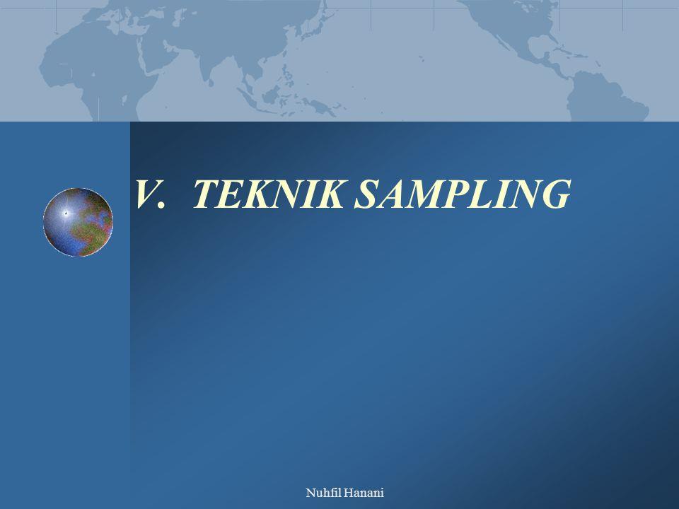 V. TEKNIK SAMPLING Nuhfil Hanani