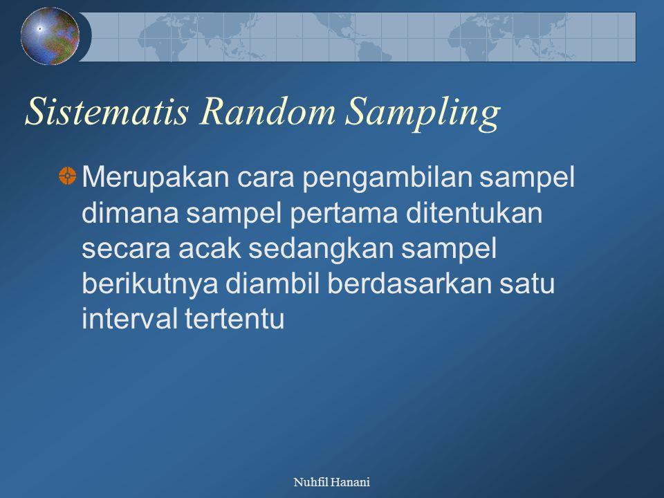 Sistematis Random Sampling