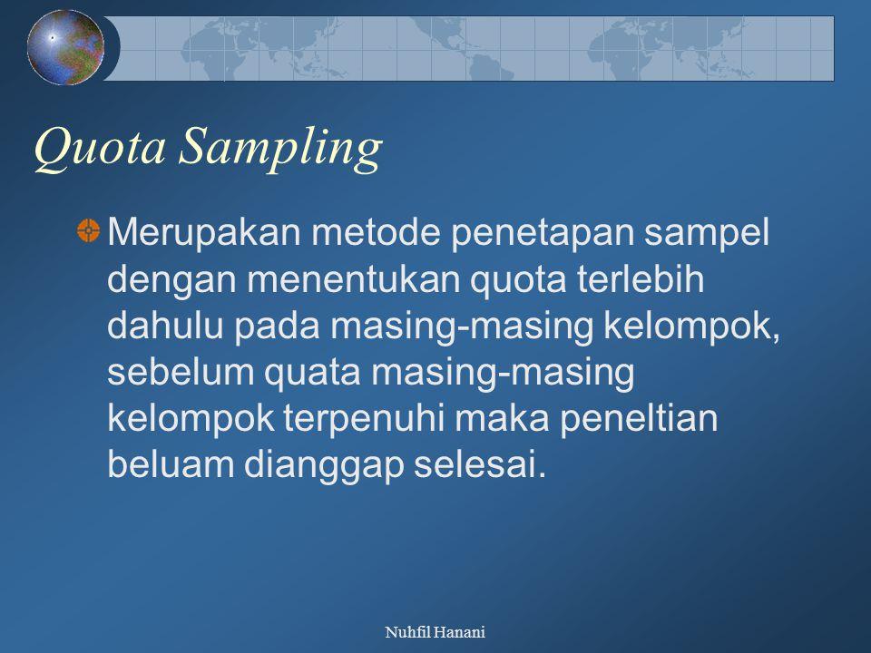 Quota Sampling