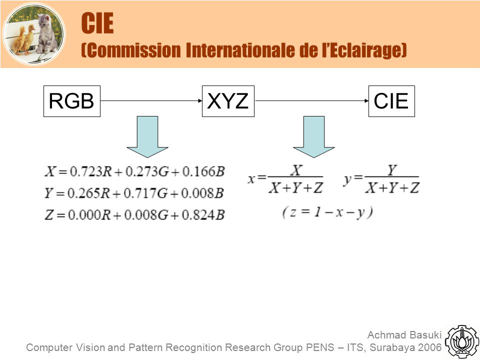 CIE (Commission Internationale de l'Eclairage)