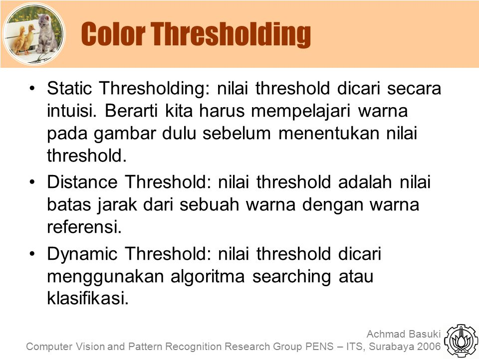 Color Thresholding
