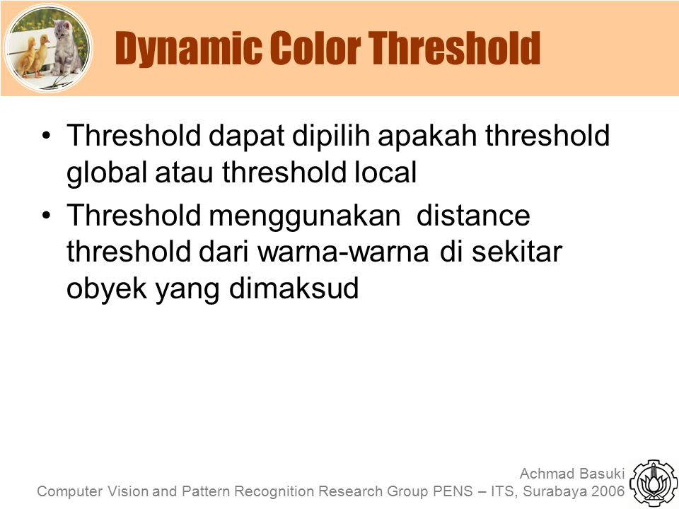 Dynamic Color Threshold
