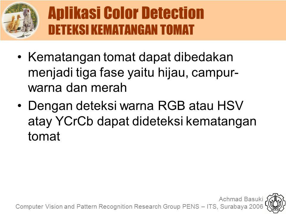 Aplikasi Color Detection DETEKSI KEMATANGAN TOMAT