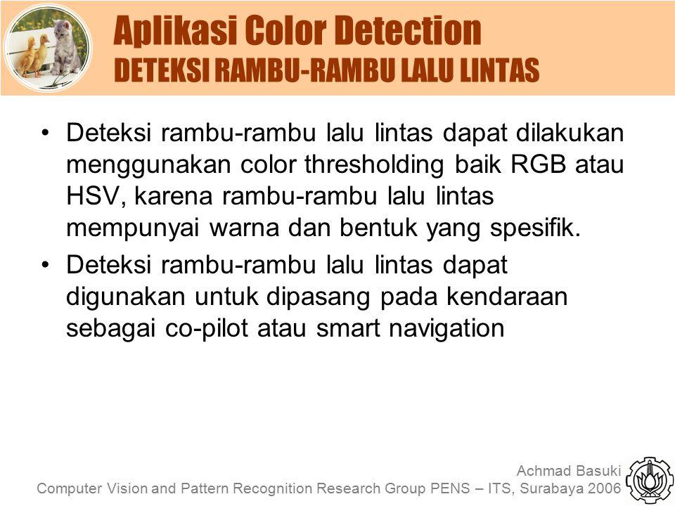 Aplikasi Color Detection DETEKSI RAMBU-RAMBU LALU LINTAS