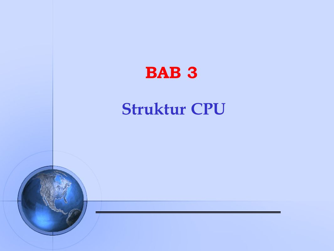 BAB 3 Struktur CPU