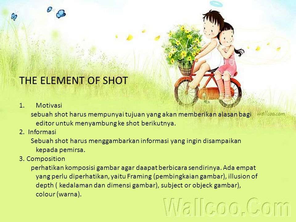 THE ELEMENT OF SHOT Motivasi