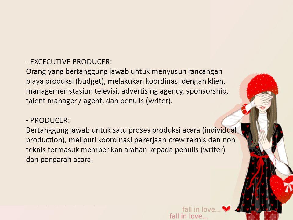 - EXCECUTIVE PRODUCER: