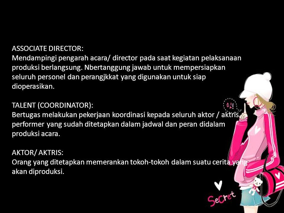 A ASSOCIATE DIRECTOR: