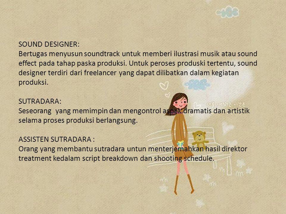 SOUND DESIGNER: