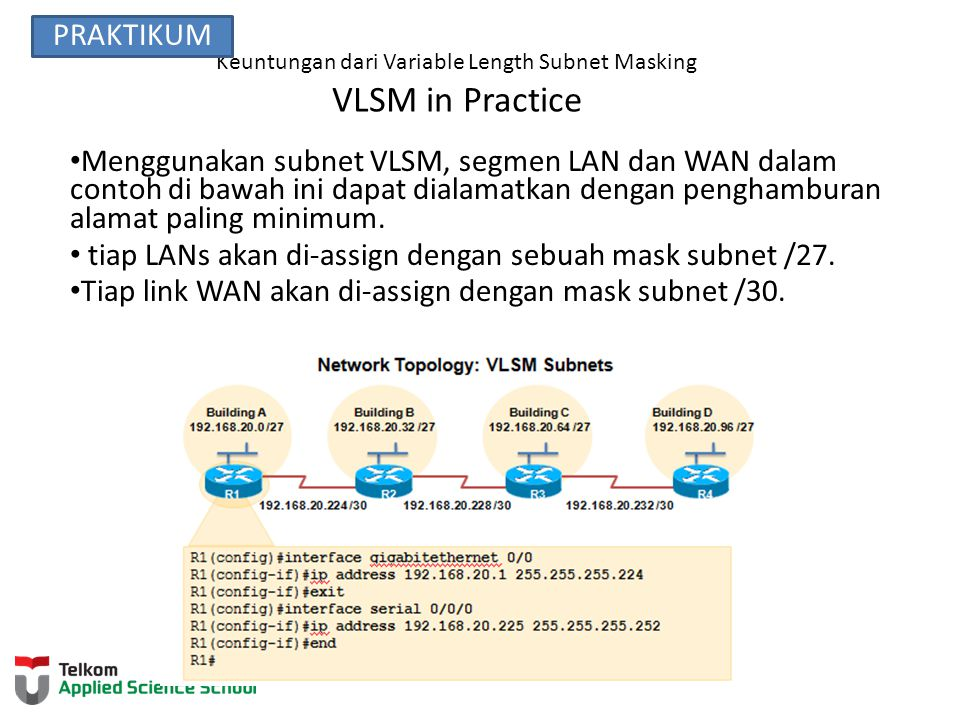 Keuntungan dari Variable Length Subnet Masking VLSM in Practice