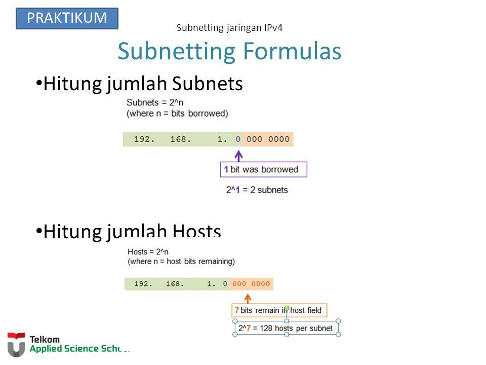 Subnetting jaringan IPv4 Subnetting Formulas