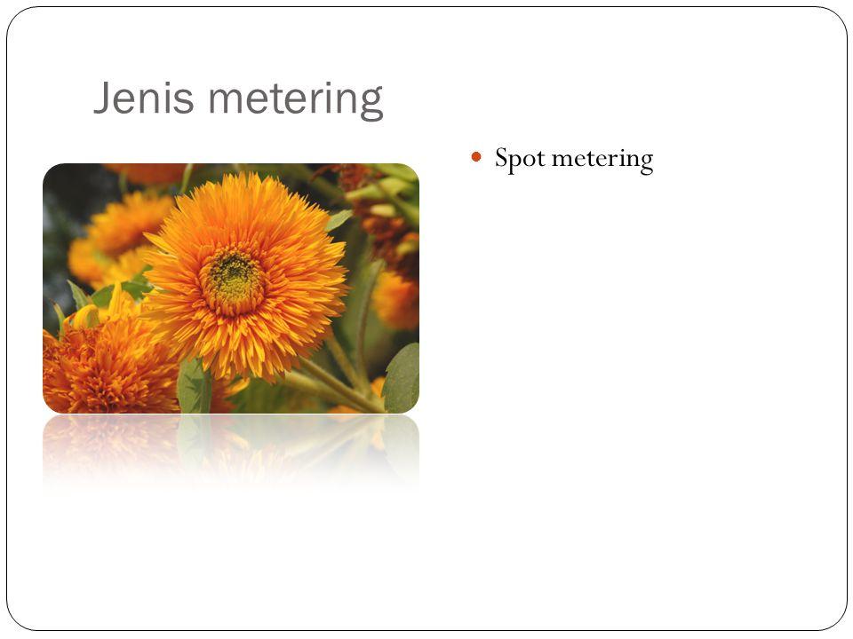 Jenis metering Spot metering