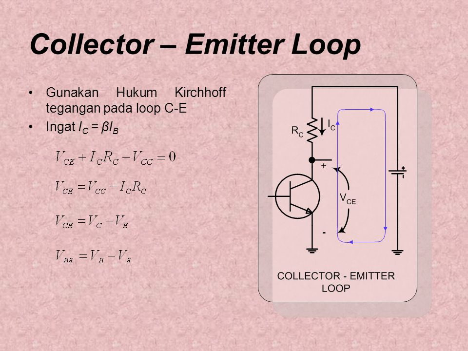 Collector – Emitter Loop