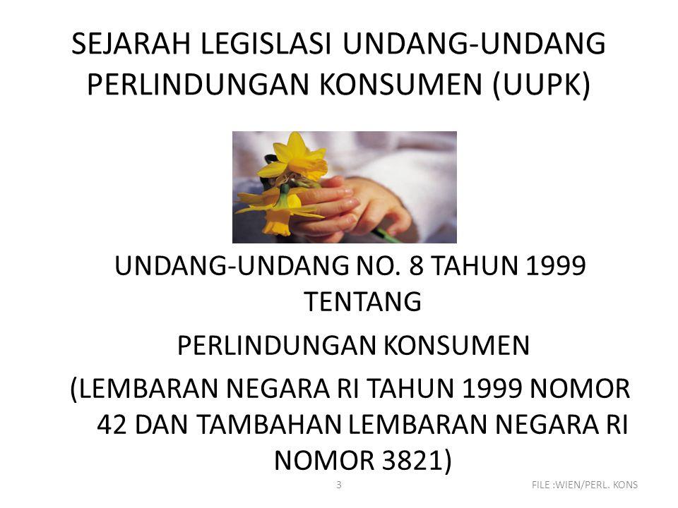 SEJARAH LEGISLASI UNDANG-UNDANG PERLINDUNGAN KONSUMEN (UUPK)