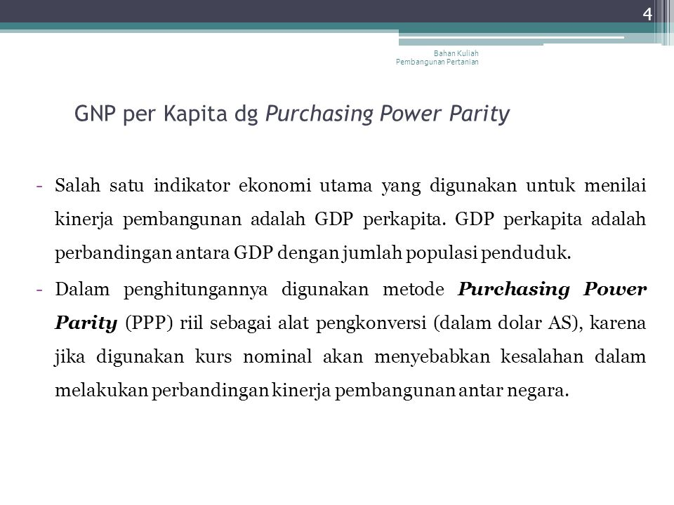 GNP per Kapita dg Purchasing Power Parity