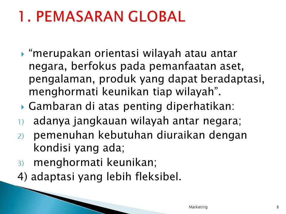 1. PEMASARAN GLOBAL