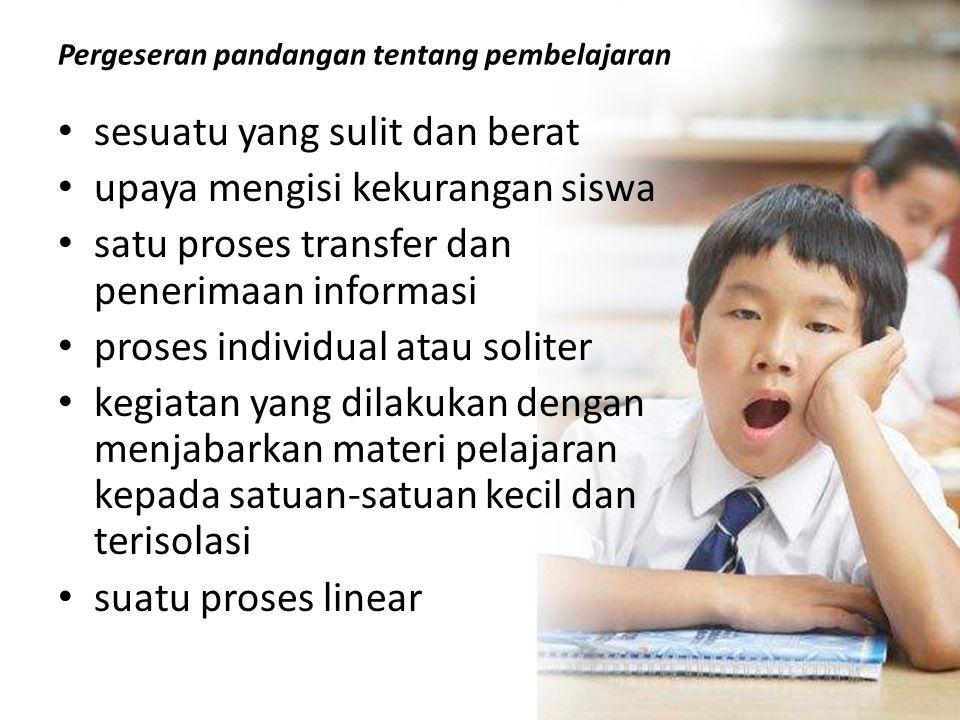 Pergeseran pandangan tentang pembelajaran