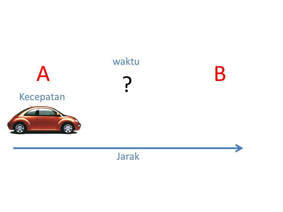 waktu A B Kecepatan Jarak