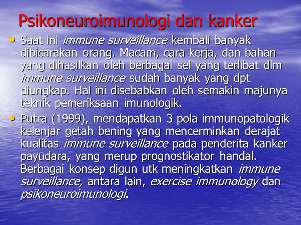 Psikoneuroimunologi dan kanker