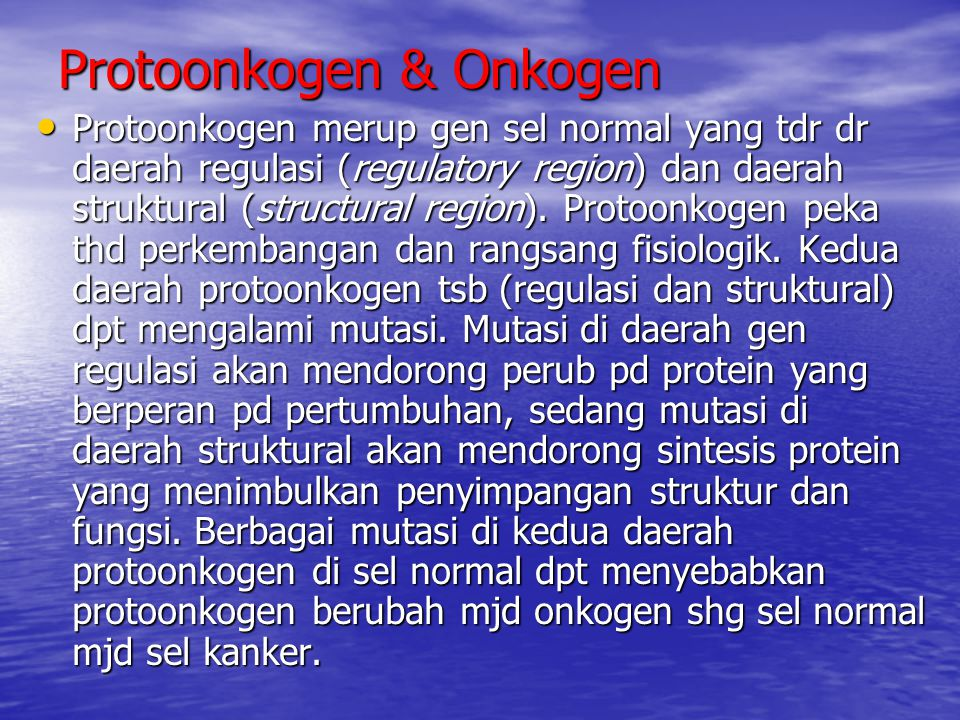 Protoonkogen & Onkogen