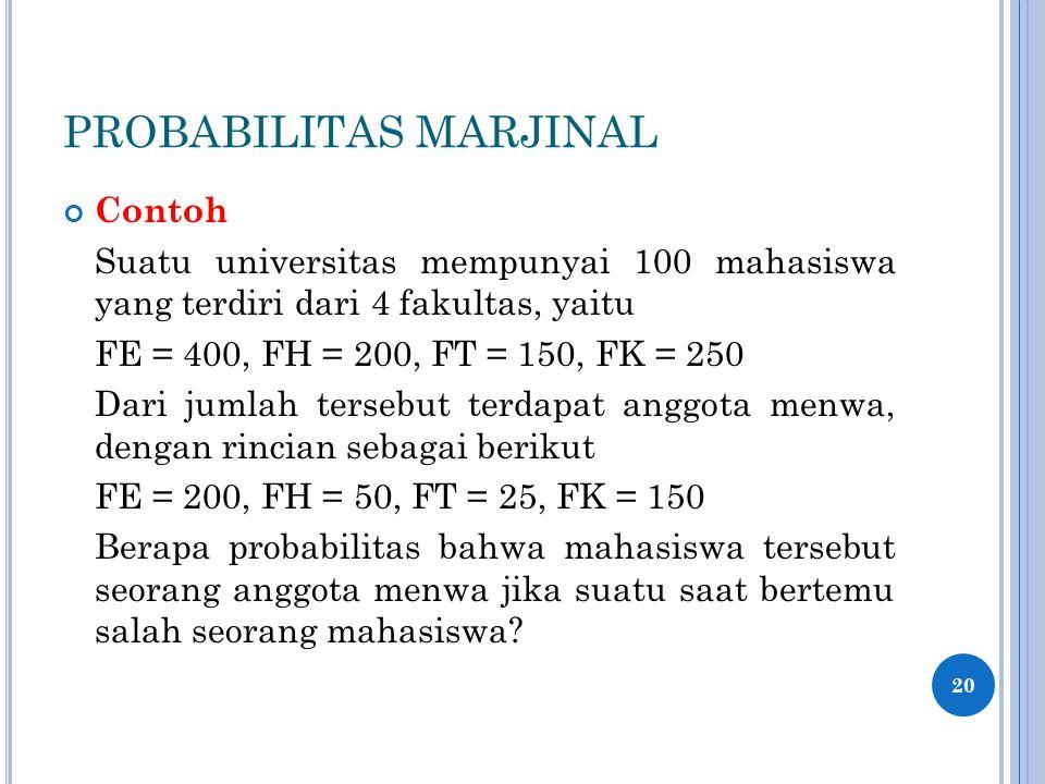 PROBABILITAS MARJINAL