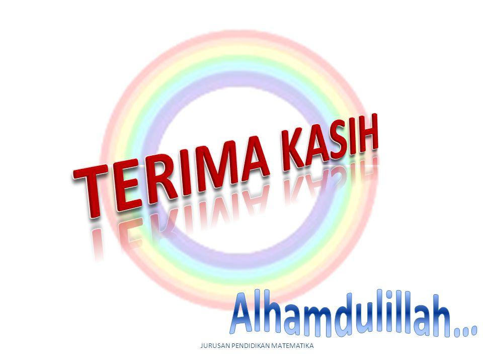 TERIMA KASIH Alhamdulillah… JURUSAN PENDIDIKAN MATEMATIKA