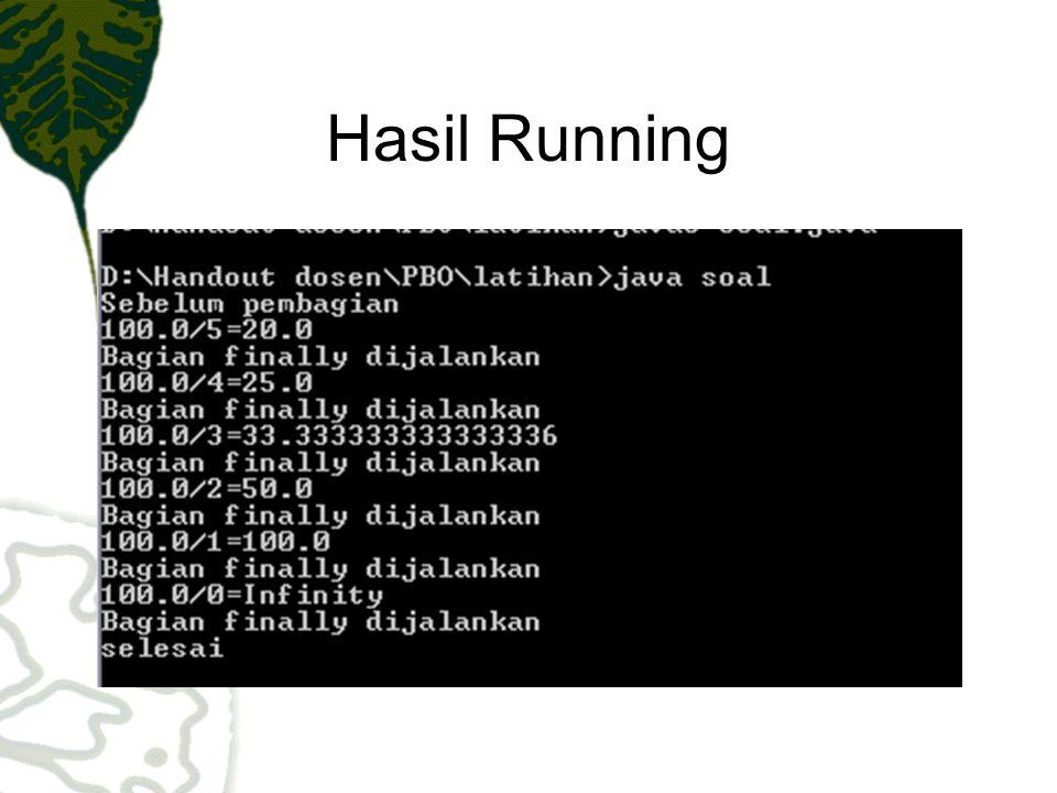 Hasil Running
