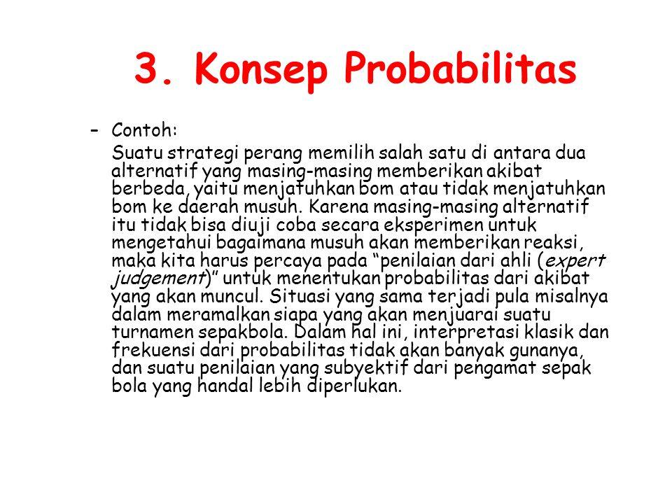 3. Konsep Probabilitas Contoh: