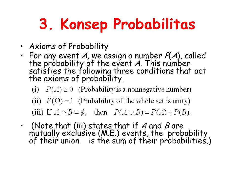 3. Konsep Probabilitas Axioms of Probability