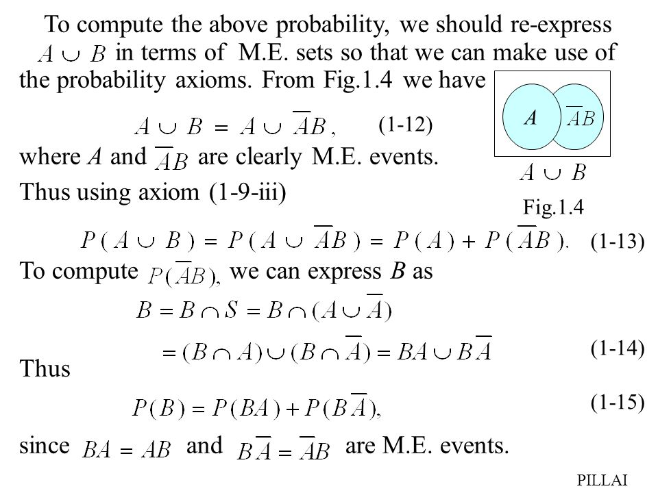 To compute the above probability, we should re-express