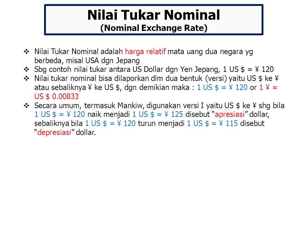 (Nominal Exchange Rate)
