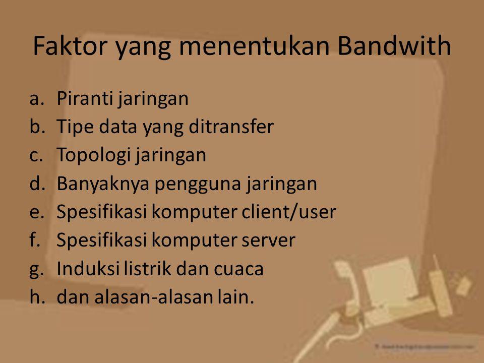 Faktor yang menentukan Bandwith