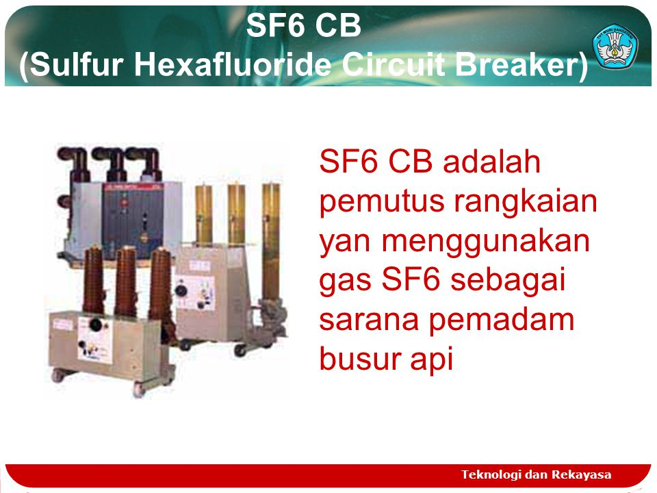 SF6 CB (Sulfur Hexafluoride Circuit Breaker)