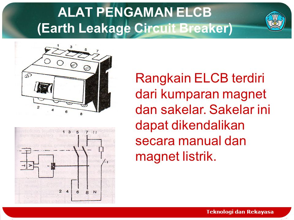 ALAT PENGAMAN ELCB (Earth Leakage Circuit Breaker)