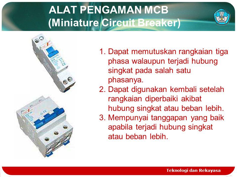 ALAT PENGAMAN MCB (Miniature Circuit Breaker)