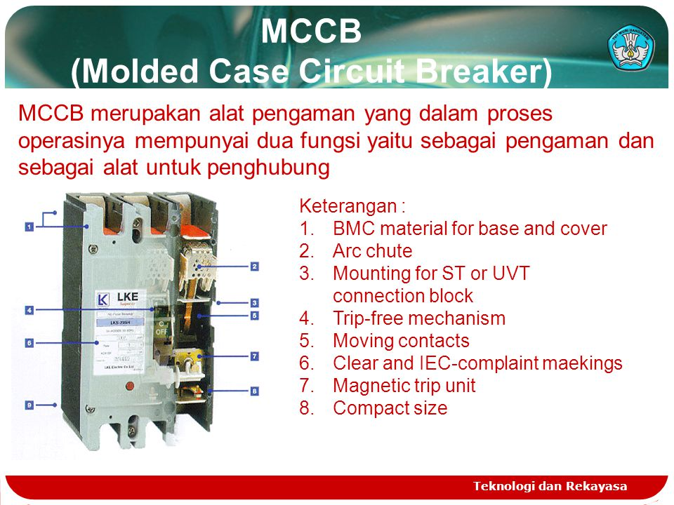 MCCB (Molded Case Circuit Breaker)