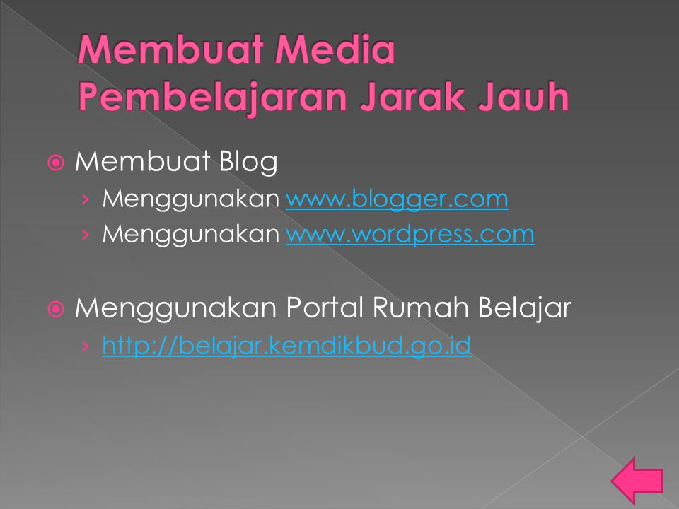 Membuat Media Pembelajaran Jarak Jauh