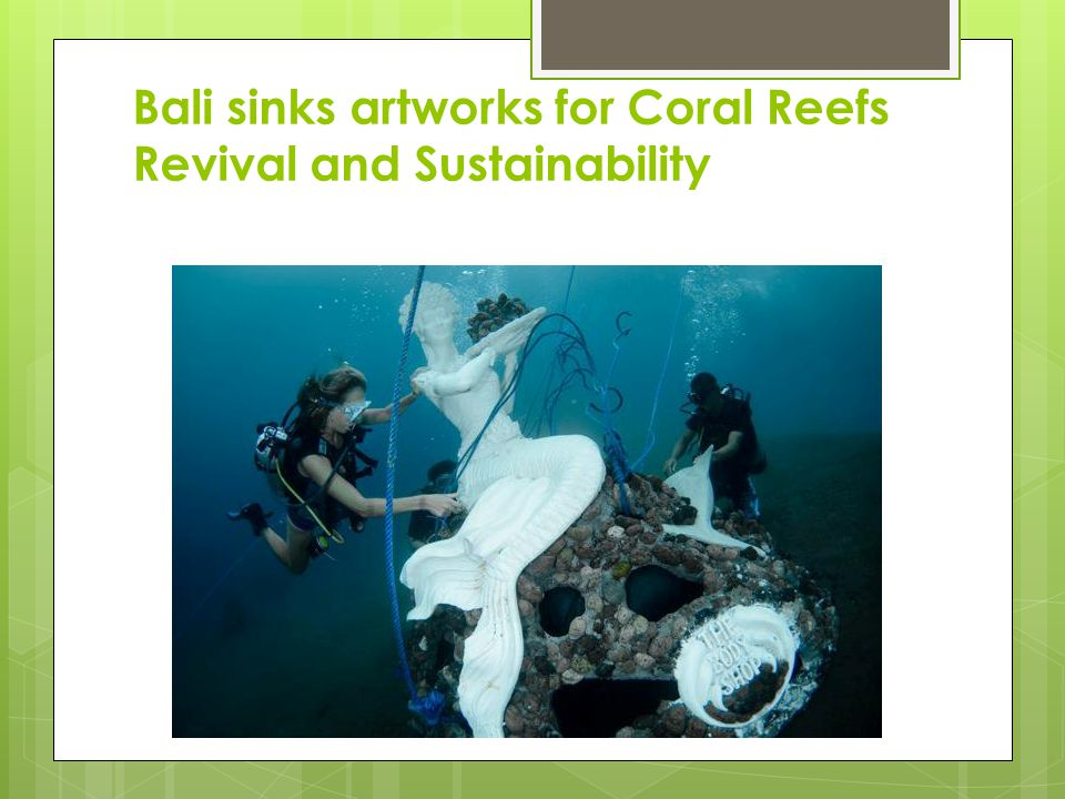 Bali sinks artworks for Coral Reefs Revival and Sustainability