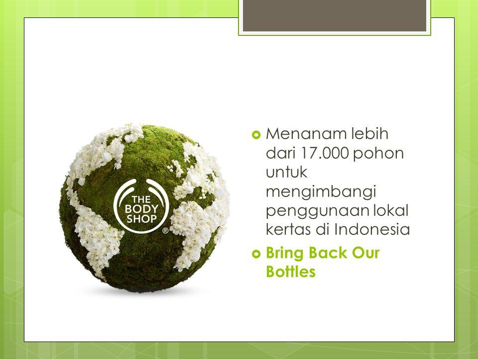 Menanam lebih dari 17.000 pohon untuk mengimbangi penggunaan lokal kertas di Indonesia