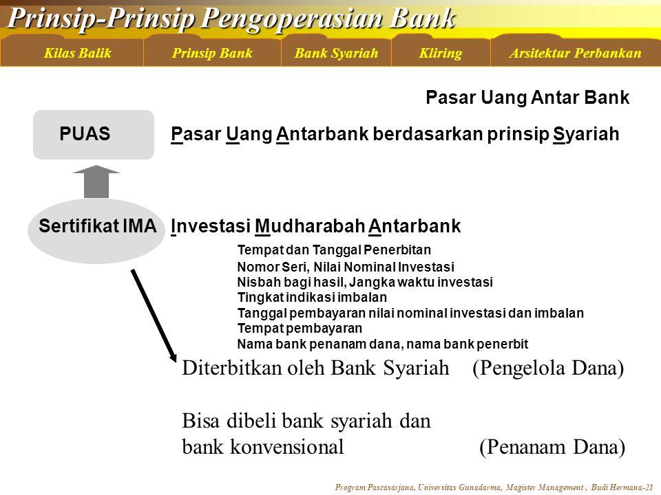 Diterbitkan oleh Bank Syariah (Pengelola Dana)