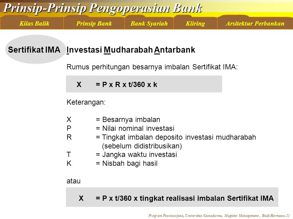 Sertifikat IMA Investasi Mudharabah Antarbank