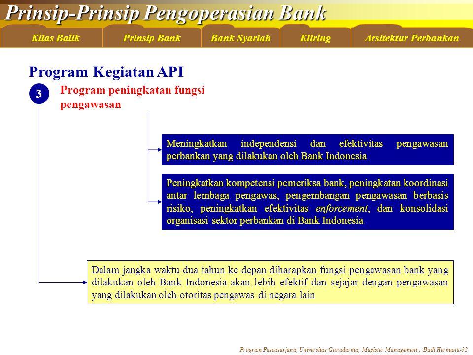 Program Kegiatan API Program peningkatan fungsi pengawasan 3