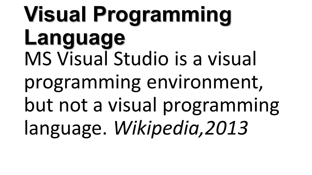 Visual Programming Language