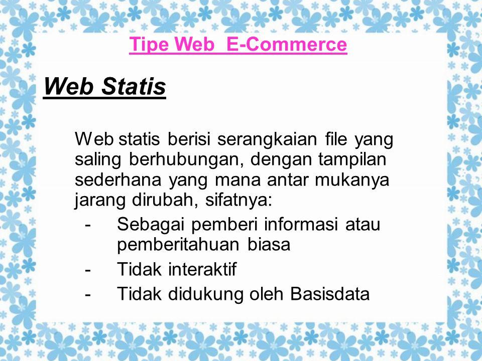 Web Statis Tipe Web E-Commerce