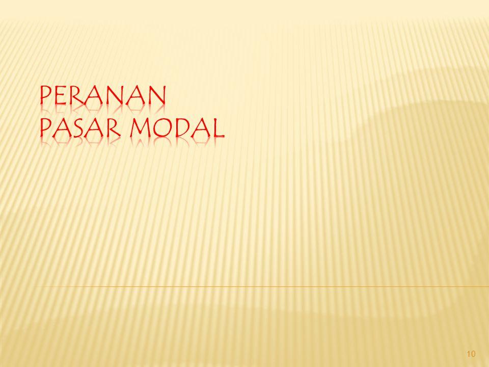 PERANAN PASAR MODAL