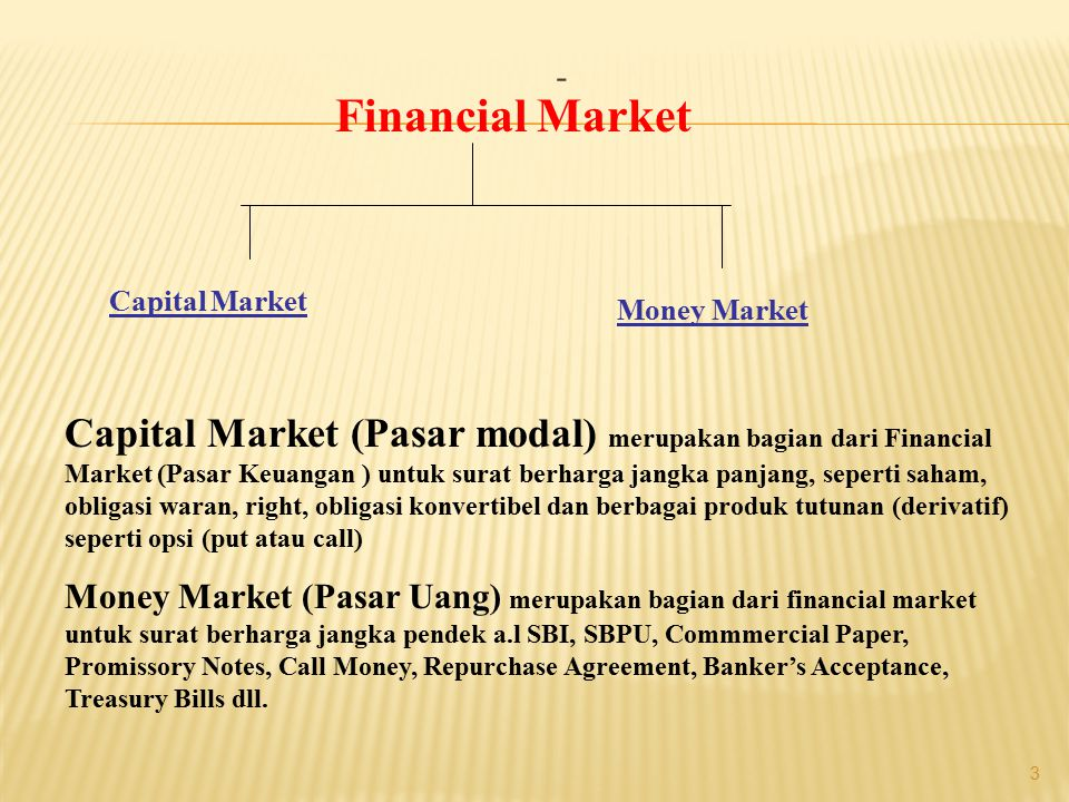 - Financial Market. Capital Market. Money Market.