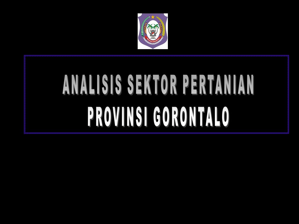ANALISIS SEKTOR PERTANIAN