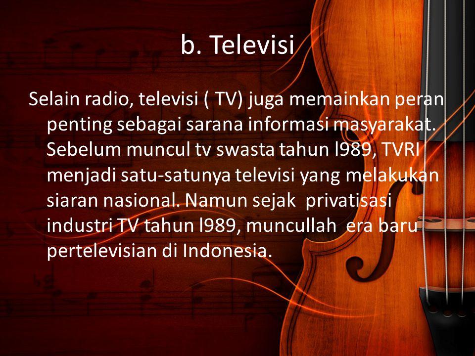 b. Televisi