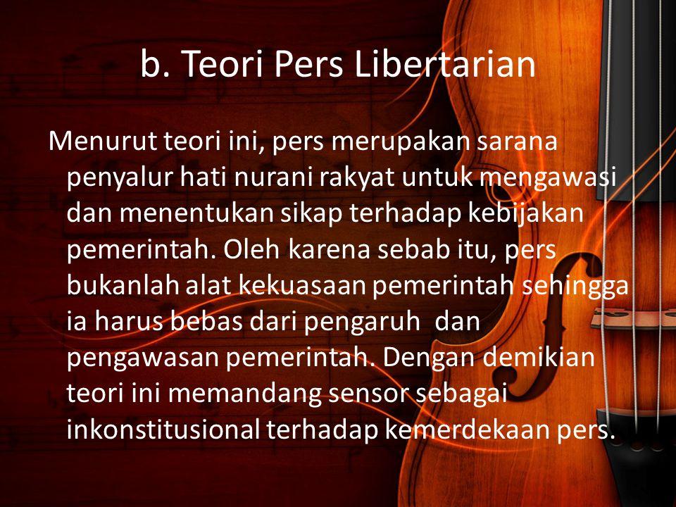 b. Teori Pers Libertarian